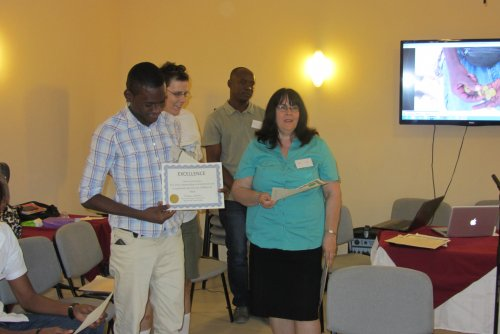 Each NGO and staff received a Certificate from Diane