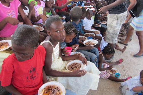 The Children are thankful for the Food